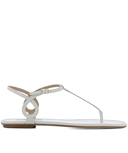 Skinn Sandaler Aquazzura Albflaa0white Hvitt Kvinners SqnvtI