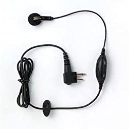 Motorola Original (OEM) PMLN4442 Mag One Earbud with In-Line Microphone and PTT / VOX Switch - Compatible w/ BPR40, CP125, CP150, CP185, CP200, PR400