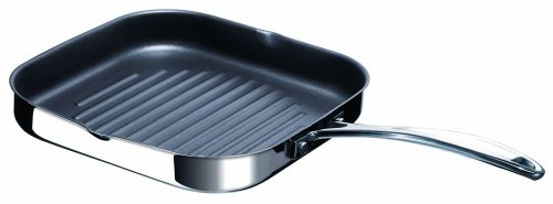 Beka Chef Non-Stick Griddle Pan, Stainless Steel, Silver, 26.5 Cm Diameter