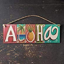 Ral454ick Aloha Sign - Letrero Hawaiano de Playa Tropical ...