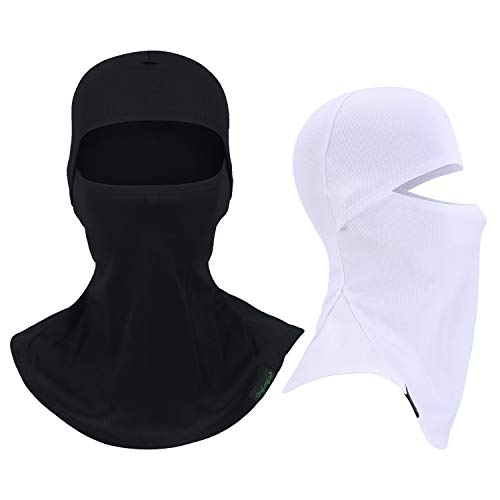 - Balaclava Full Face Mask Motorcycle Helmet Liner Breathable Multipurpose Outdoor Sports Wind Proof Dust Head Hood (blackwhite)