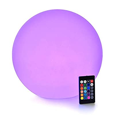 LOFTEK LED Light Ball : RGB Colors Light Sphere with Remote Control, Cordless Floating Pool Lights, IP65 Waterproof and Rechargeable Battery, Sensory Toys for Kids, Home, Garden, Party Decor
