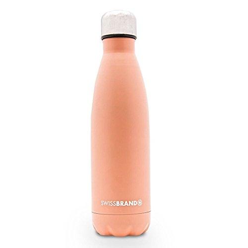 Swissbrand Water Bottle-1 Pack-Peach Echo ()