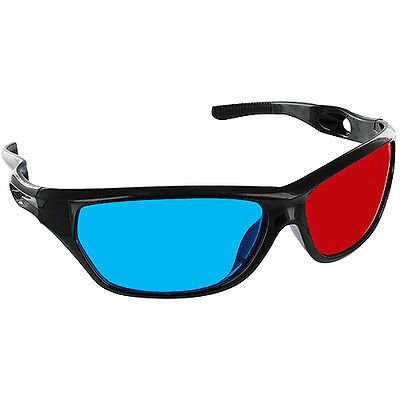 EopZol™ 1 Pair Black Frame Red Blue 3D Glasses For Dimensional Anaglyph Movie Game DVD