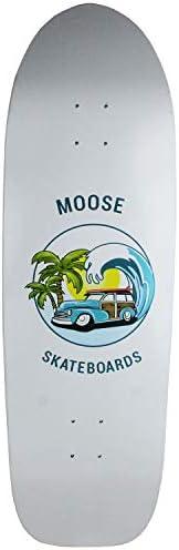"Moose Old School Skateboard Deck Sunset Cruiser 10"" x 33"" Gr"