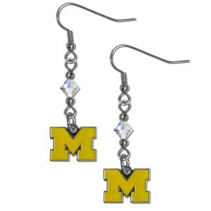 - NCAA Michigan Wolverines Crystal Dangle Earrings