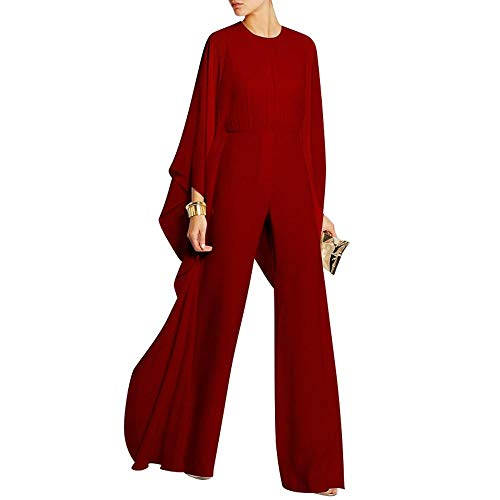 Women's Jumpsuits Europe and The United States Summer Elegant Fairy Comfortable Loose Bell-Bottoms One-Piece Dress Catwalk Banquet Fashion Amazon