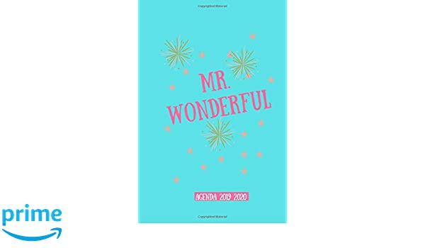 Mr. wonderful agenda 2019 2020: Agenda scuola, Agenda ...