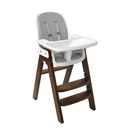 Chair Walnut High (OXO Tot OXO Tot Sprout Chair with Tray Cover, Gray and Walnut)