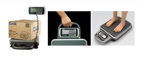 Bench 300 Lb (Bench Scale by CAS PB 300 , NTEP Legal for trade 300 lb x 0.1 lb, Dual range,Ideal for shipping, Medical,New)