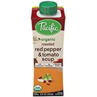 Amazon.com deals on 12-Pack Pacific Foods Organic Red Pepper and Tomato Soup, 8Oz Cartons
