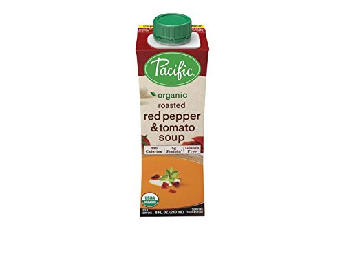 Pacific Foods Organic Roasted Red Pepper and Tomato Soup, 8 Ounce Cartons, 12-Pack