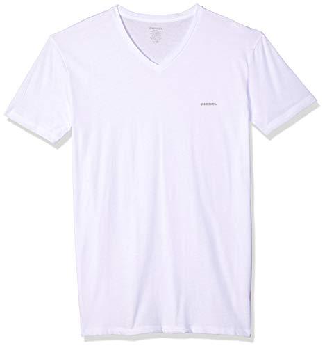 Diesel Men's Jake 3-Pack Essentials V-Neck T-Shirt, White XXL ()