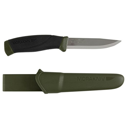 Sale!! Morakniv Companion Fixed Blade Outdoor Knife with Sandvik Stainless Steel Blade, 4.1-Inch