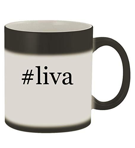 - #liva - 11oz Hashtag Magic Color Changing Mug, Matte Black