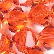 Swarovski Elements Crystal Beads Bicone 5301 4mm PADPARADSCHA (48) 522047