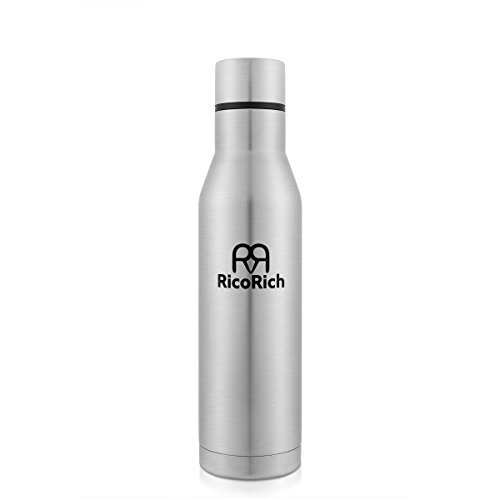 RicoRich Double Walled Vacuum Insulated Stainless Steel Sport Water Bottle,Outdoors Travel Thermoses Bottles,BPA Free (26oz / 17oz)