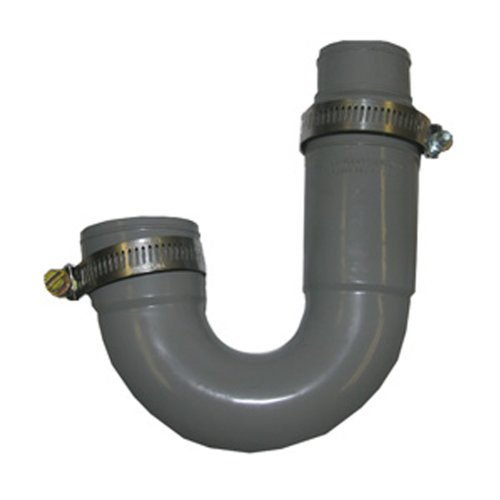 Flexible Sink Drain - LASCO 25-6860 Flexible Rubber P-Trap with Worm Drive Clamps for OD Tubes, 1 1/2
