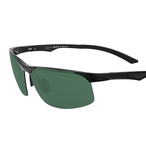 Duco Men's Sports Style Polarized Sunglasses Driver Glasses X6 Dark Green - Sunglasses Pugs Prices