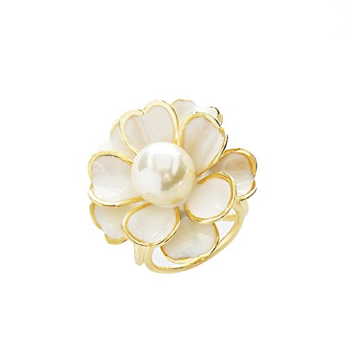 's Flower Scarves Buckle Ring (5 Degree Pin)