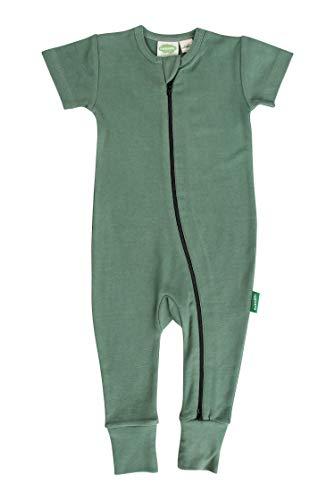Parade Organics Essential Basics '2-Way' Zip Romper - Short Sleeve Camper Green 6-12 Months