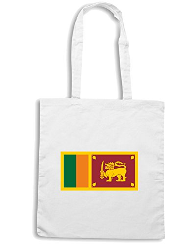 T-Shirtshock - Bolsa para la compra TM0246 Sri Lanka Flag flag Blanco