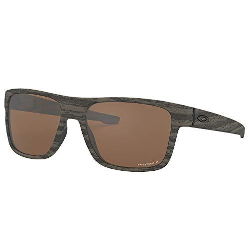 27c6c4a61e Oakley Crossrange Polarized Sunglasses, Woodgrain w/Prizm Tungsten  Polarized, One Size
