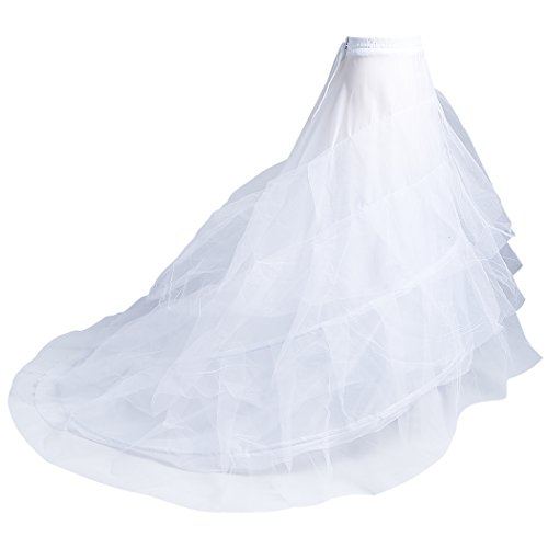 Crinoline Petticoat 3 Layers Mermaid Petticoat Underskirt Floor Length Wedding Dress For Women