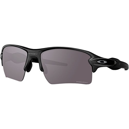 Oakley Men's Flak 2.0 Xl Polarized Iridium Rectangular Sunglasses, Steel w/Prizm Daily Polarized, 59 - Polarized Prizm