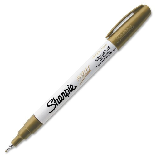 Sharpie - Paint Markers, Oil Base, Extra Fine, Metallic Gold, Sold as 1 Each, SAN ()