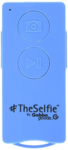 TheSelfie Bluetooth Wireless Camera Remote for All Apple & Android Devices – Blue