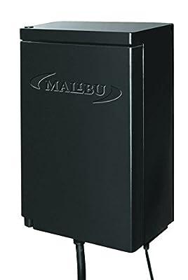 Malibu 120 Watt Power Pack with Sensor and Weather Shield for Low Voltage Landscape Lighting Spotlight Outdoor Transformer 120V Input 12V Output 8100-9120-01