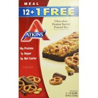 Atkins Chocolate Peanut Butter Pretzel Bar, 13 Count