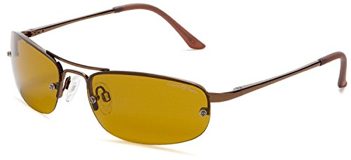 Eagle Eyes Solare Polarized Sunglasses - Semi-Rimless Copper-Tone - Triple Sunglasses H