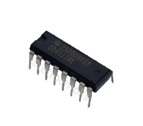 5 x CD4511BE CD4511 4511 BCD to 7 segment Latch Decoder IC