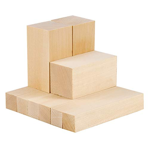 Unfinished Wood Blanks Set Basswood blocks Basswood Carving Blocks Basswood Basswood Wood Carving Block Blank Set Wood Whittling Set Wood Carving Wood Blocks Craft Beginner Whittling Kit Basswood for Carving