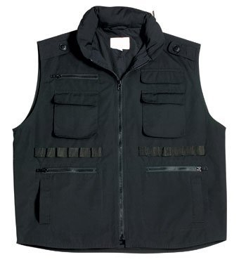 Rothco Kids Ranger Vest, Black, Small
