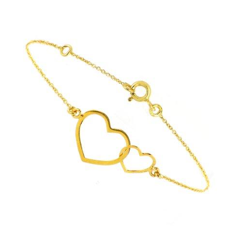 Tousmesbijoux Bracelet coeur Or 375/00