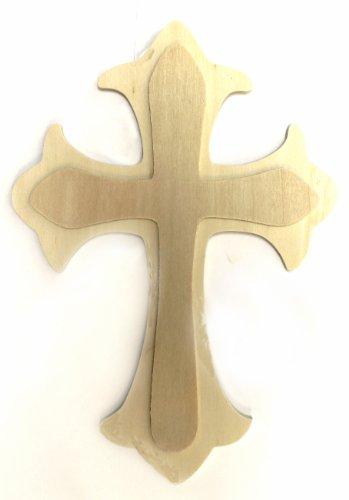 Plaid Wood Cross, 97499 Fleur De Lis