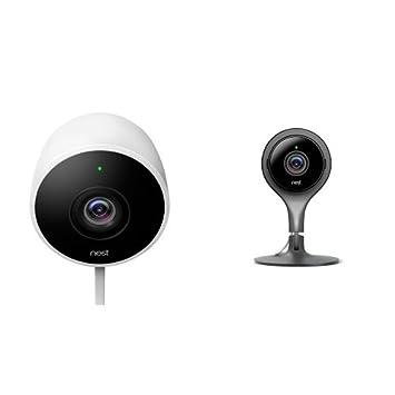 amazon com nest 2 outdoor and 1 indoor camera bundle works with rh amazon com