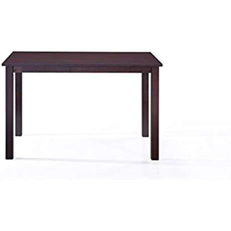 5pc Dining Dinette Set 4 Person Set Dark Espresso Finish By Malko Table ONLY