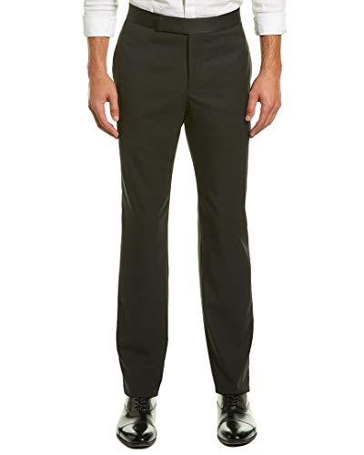 Zanella Mens Pierce Formal Wool Trouser, 34, Black