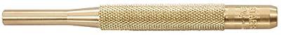 "Starrett B565G Brass Drive Pin Punch, 4"" Overall Length, 1"" Pin Length, 1/4"" Pin Diameter"