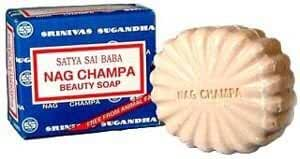 Satya Nag Champa: Sai Baba Natural Soap, Large, 150 g, 5 oz, 4 Piece