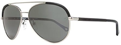 Ermenegildo Zegna SZ3346M Aviator Sunglasses,Ruthenium,59 - Women Zegna
