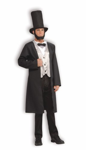 Forum Patriotic Party Collection Abraham Lincoln Costume, Black, (Adult Abe Lincoln Costumes)