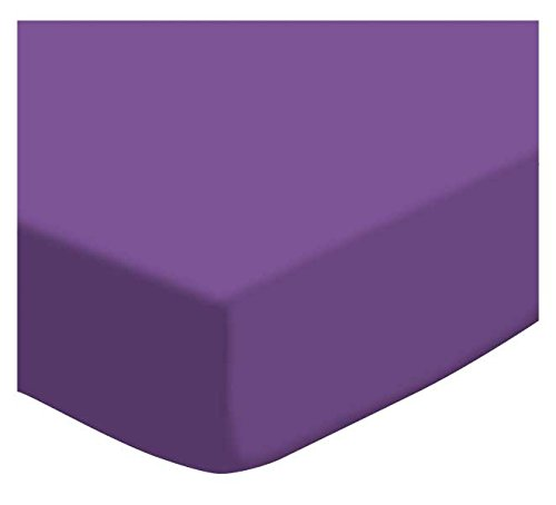SheetWorld Fitted Cradle Sheet - Flannel - Purple - Made In USA