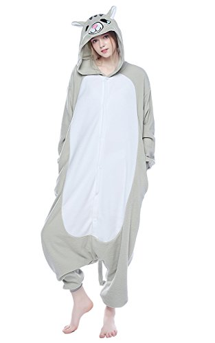 Cats Dressed In Costumes (NEWCOSPLAY Black/White Cat Costume Sleepsuit Adult Onesies Pajamas (XL, Grey Cat))