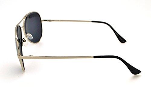 Vertx étui pour Lunettes tendance Smoke W léger femme microfibre Silver Lens pour homme soleil classique et de polarisé haute Aviator qualité Frame gratuit rqw8axCr7