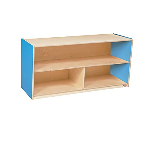Wood Designs Kids Play Toy Book Plywood Organizer Wd12430B Blueberry Versatile Storage Unit, 24″H